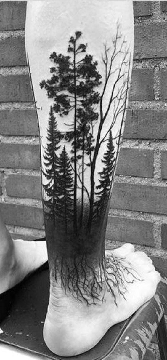 Tatuaż Las 16 Tatuaży Z Motywem Lasu Wzory Inspiracje