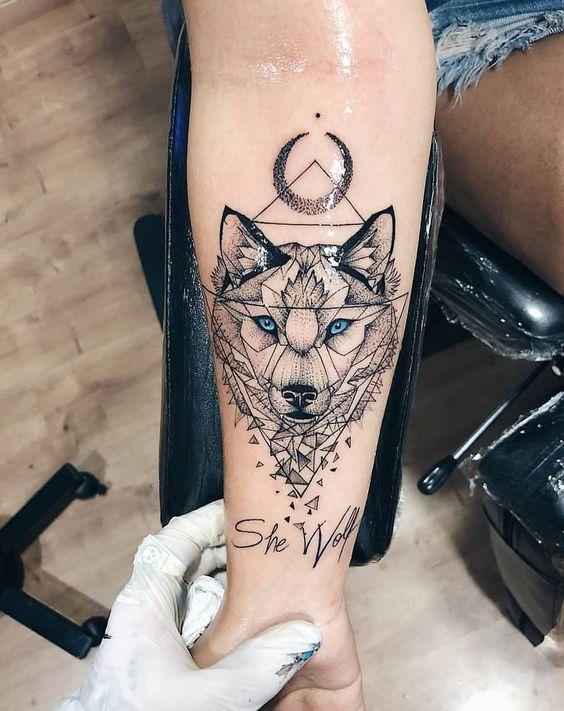 Tatuaż Wilk 19 Wzorów
