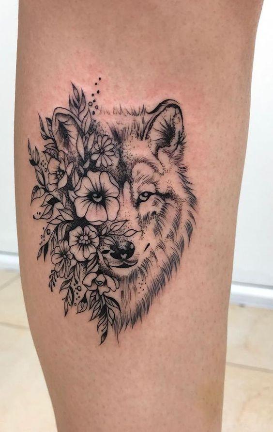 tatuaż wilk