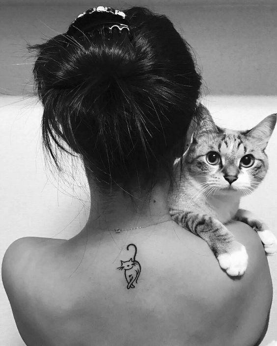 tatuaże z kotem