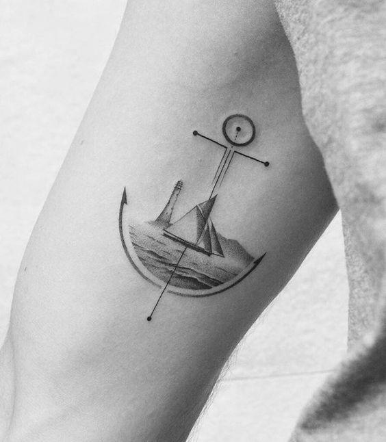 tatuaż kotwica