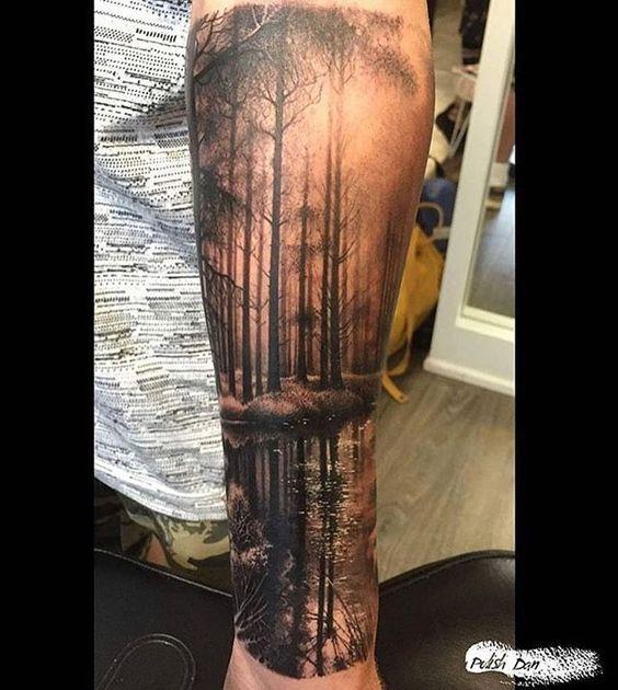 tatuaż las