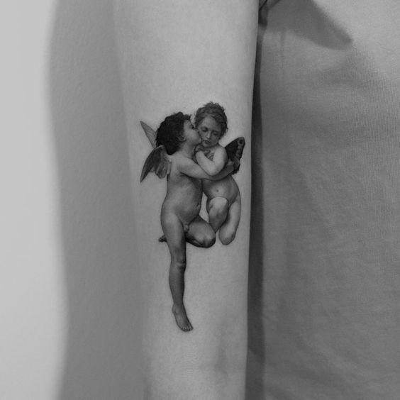 tatuaż anioł