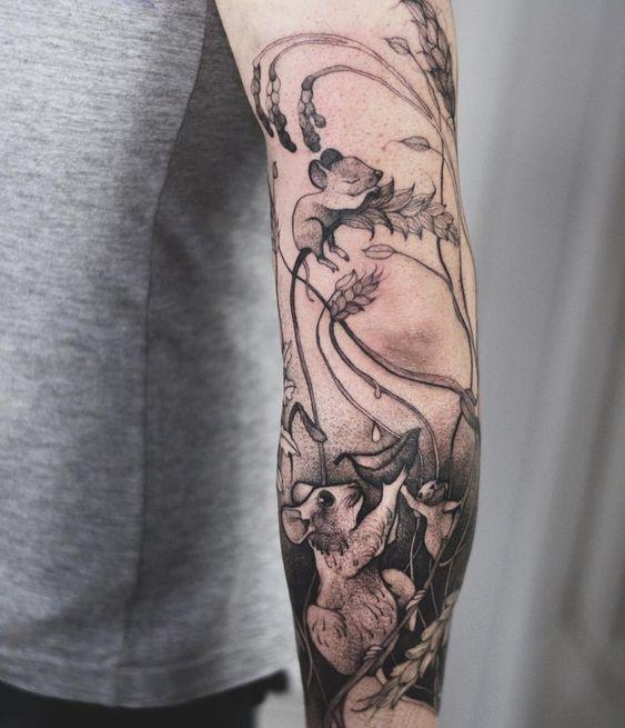 tatuaż myszka