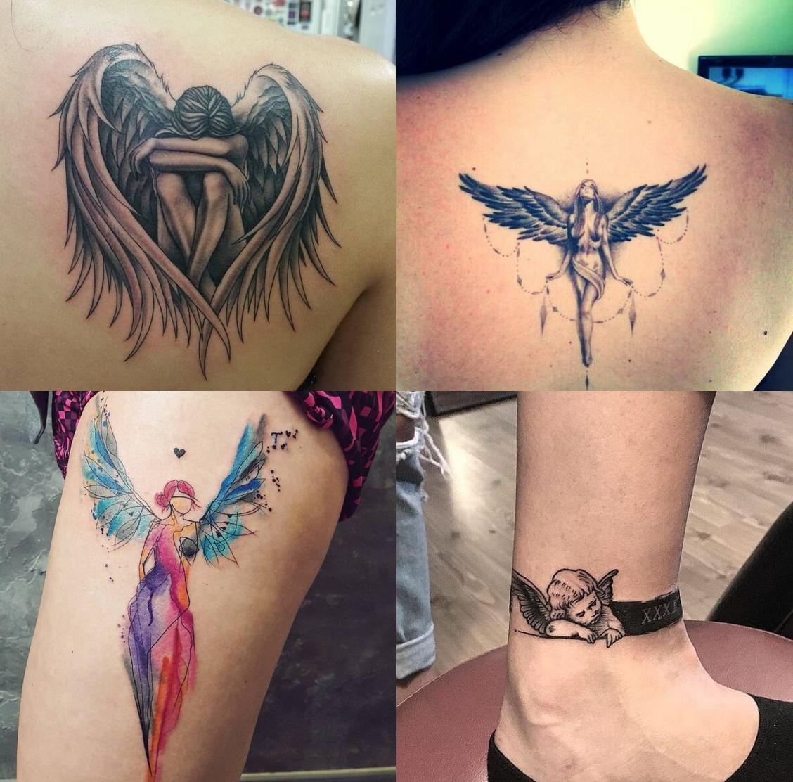 Tatuaż Anioł 22 Najpiękniejsze Wzory Tatuaży Z Aniołami