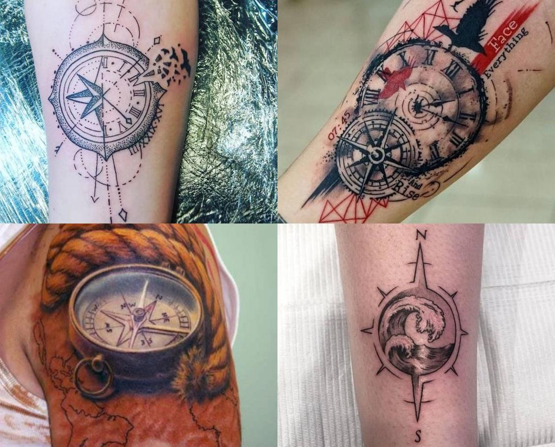 Tatuaż Kompas 18 Pomysłowych Wzorów Tatuaży