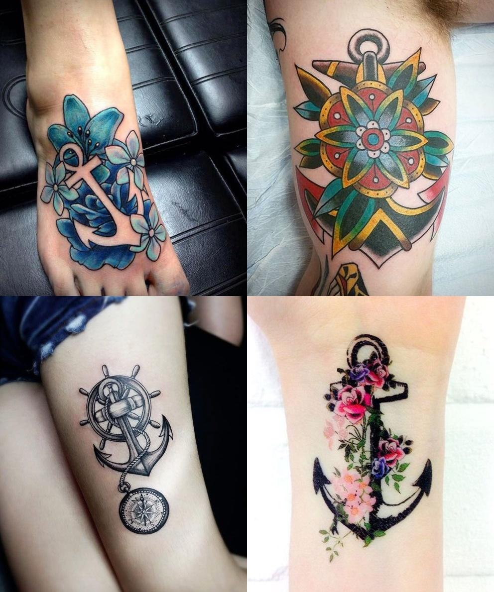 Tatuaż Kotwica 12 Wzorów Tatuaży