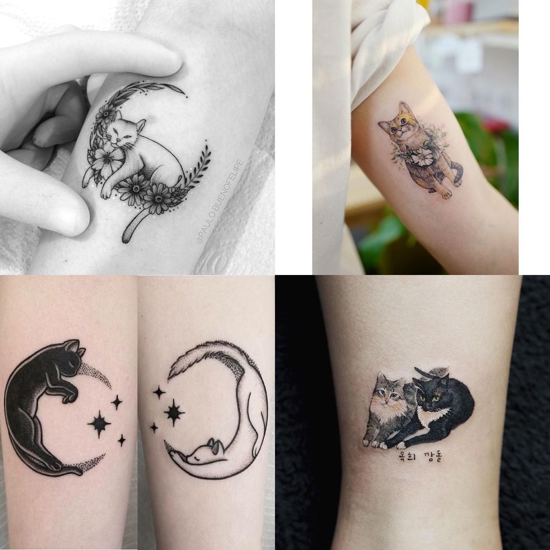 Tatuaże Z Kotem 21 Wzorów