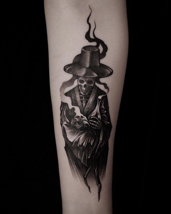 tatuaż śmierć