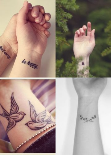 tatuaże na nadgarstek
